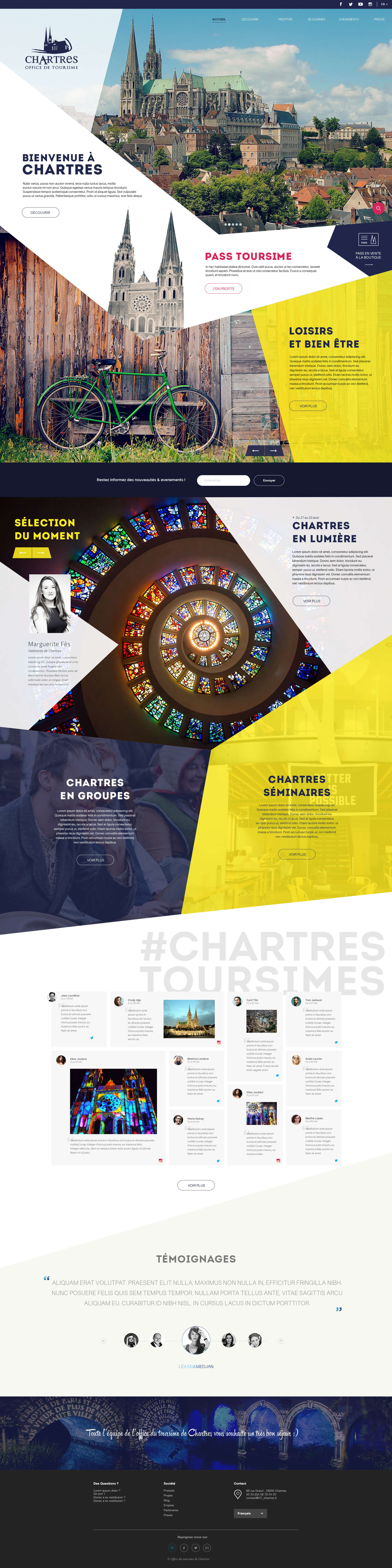 Page d'accueil AO Chartres