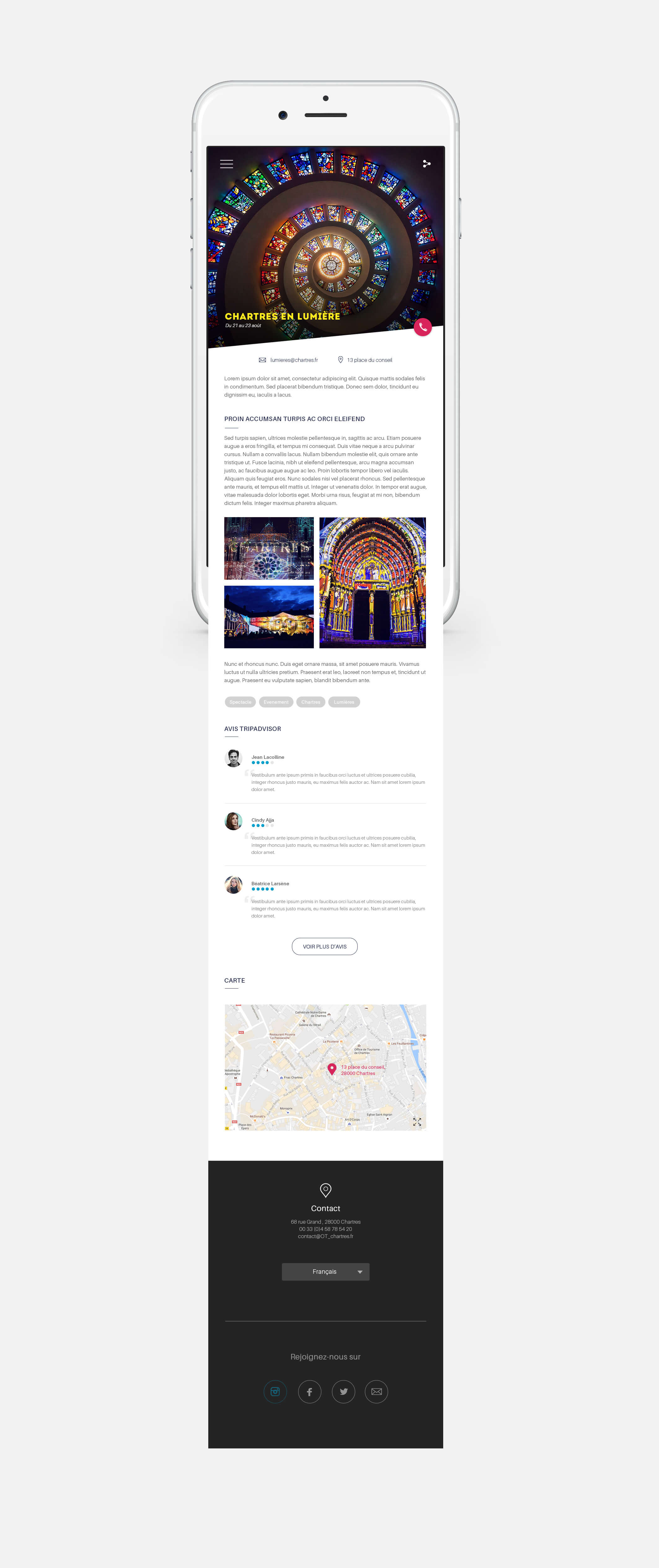 Page interieure chartres version mobile