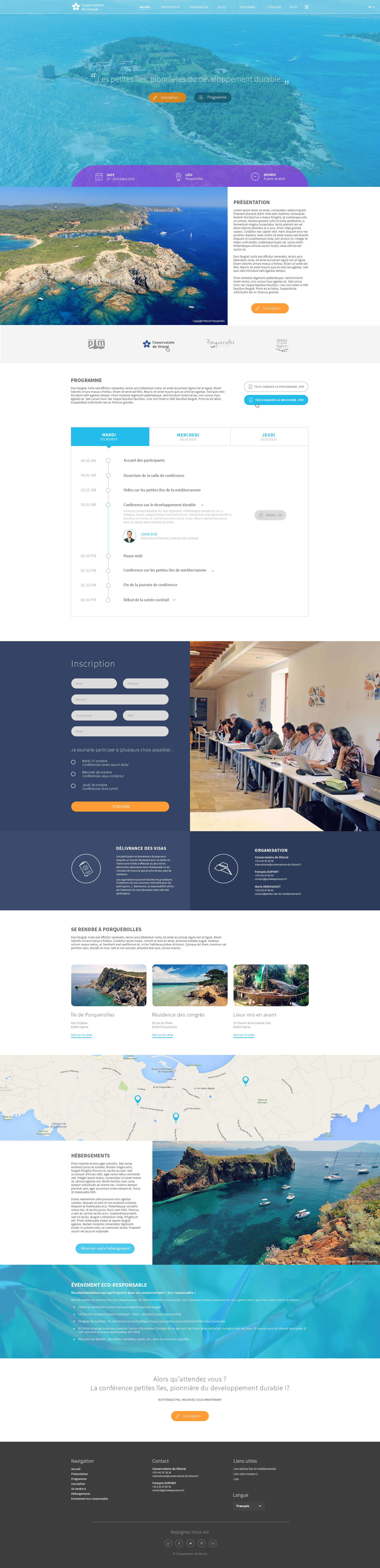 Conservatoire Du Littoral Page d'accueil