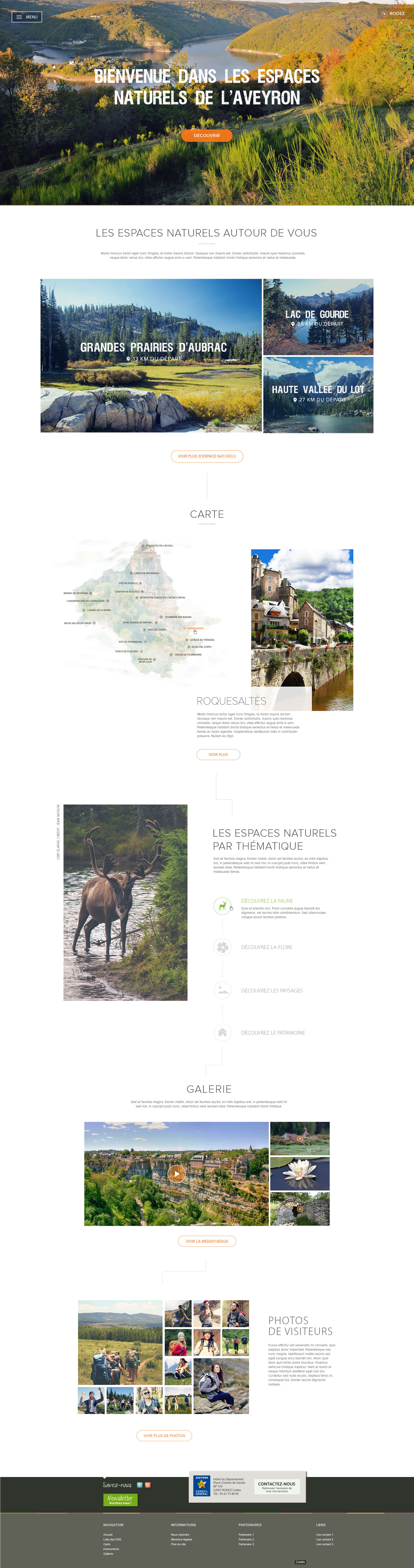 Page d'accueil Espace Nature Aveyron