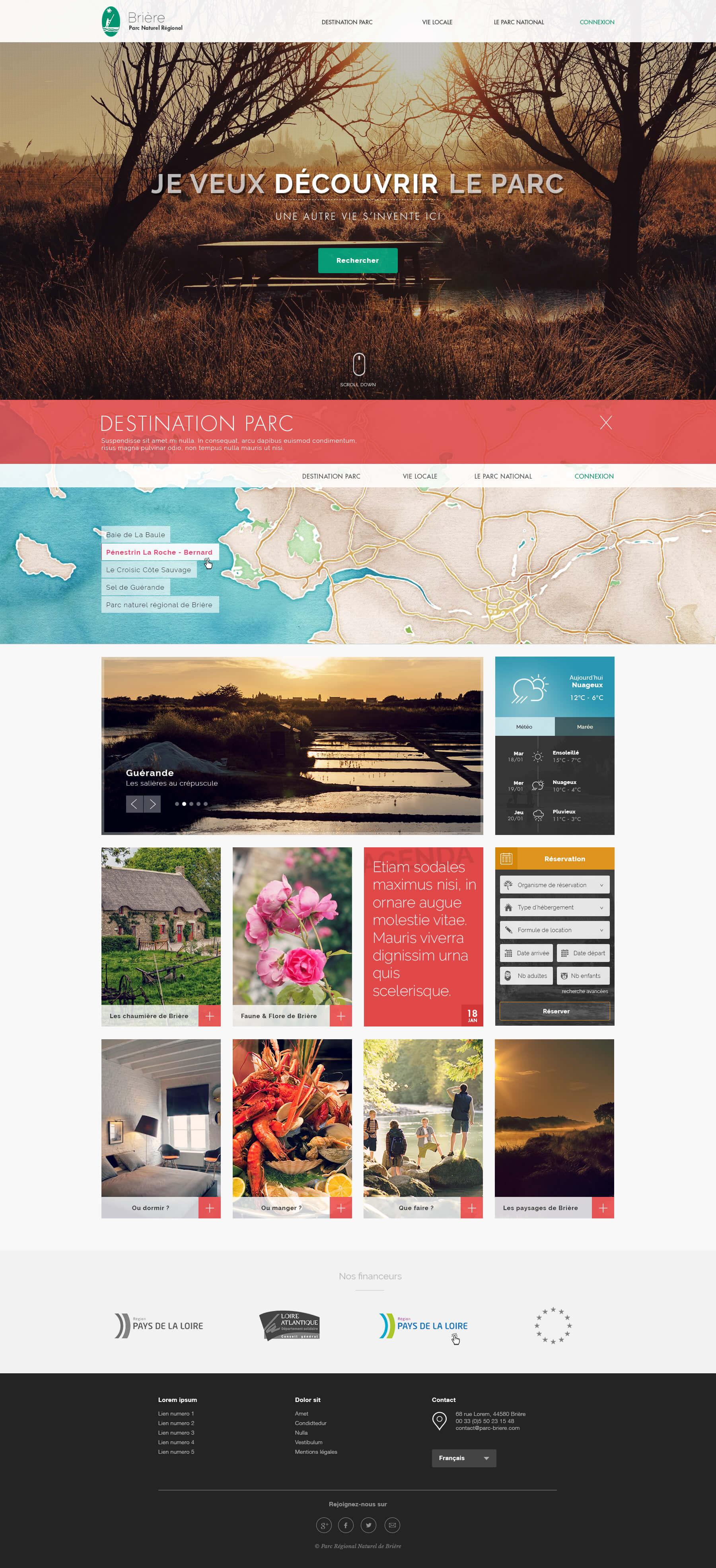 Page d'accueil Parc Brière